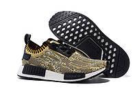 Женские кроссовки Adidas Originals NMD Runner Primeknit Black Yellow, фото 1