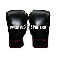 Перчатки боксерские Кожвинил SPORTKO PD-2-BK