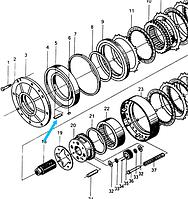 Пластина якорная (Цилиндр 1-й предачи)  ZL40.6-63