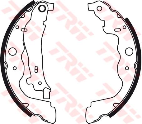 Купить Тормозные колодки, Барабанные тормозные колодки (задние) на Renault Dokker 2012-> — TRW (США / Германия) - GS8780