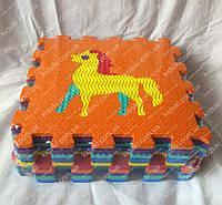 Массажный напольный коврик пазл животные  1