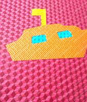 Массажный напольный коврик пазл  Транспорт