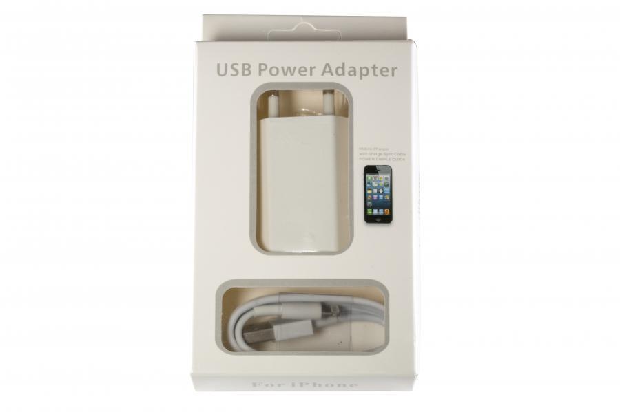 Зарядное устройство для смартфонов APPLE 2-in-1 5W для iPhone 5/6