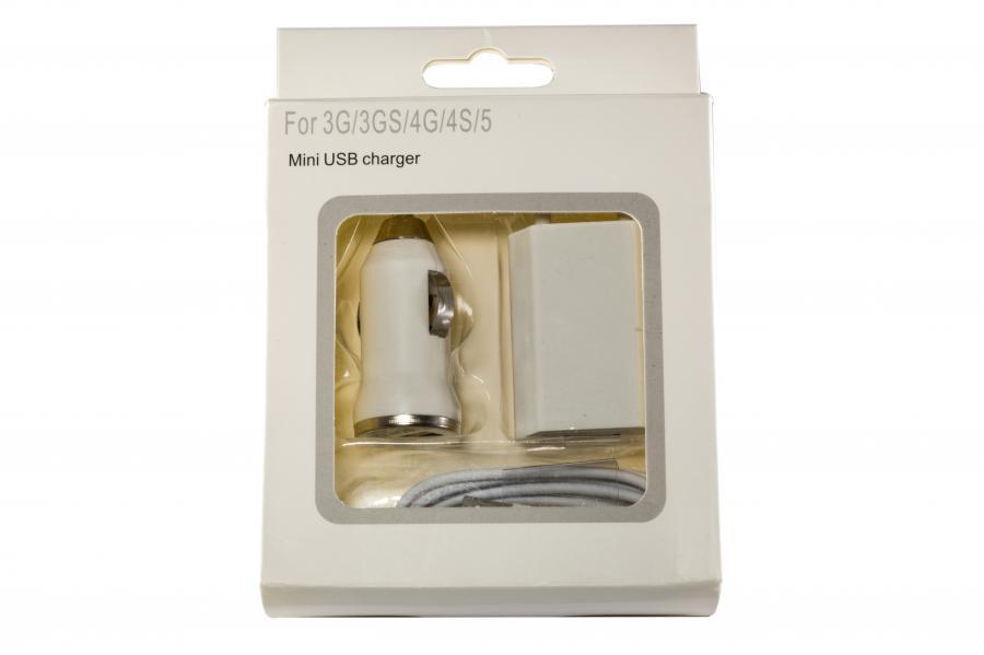 Зарядное устройство для смартфонов APPLE 3-in-1 5W для iPhone 4