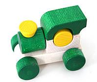 """Деревянный паровозик """"Малыш"""" (зеленый)"""
