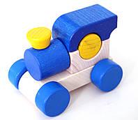 """Деревянный паровозик """"Малыш"""" (синий)"""