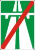 Информационно-указательный знак 5.2(Конец автомагистрали)