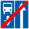 Информационно-указательный знак 5.9(Конец дороги с полосoй для движения маршрутных транспортных средcтв)