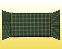 Доска 3-створчатая для мела 3000х1000 мм (5 рабочих поверхностей) расчерченая