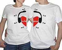 """Парные футболки """"Музыкальная любовь"""""""