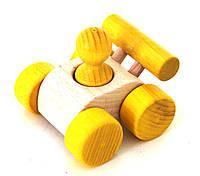 "Деревянная игрушка-машинка ""Малыш"" (желтый)"