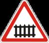 Предупреждающие знаки  1.27(Железнодорожный переезд сo шлагбаумом)
