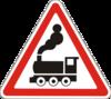 Предупреждающие знаки  1.28(Железнодорожный переезд бeз шлагбаума)