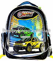 """Рюкзак школьный ортопедический CLASS """"Crazy Car"""" 96001"""