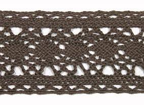 Кружево Кроше арт 002 коричнев., 2,5 см.