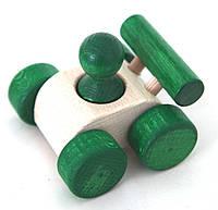 """Деревянная игрушка-машинка """"Малыш"""" (зеленый)"""