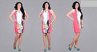 Нежное летнее платье без рукав коттон Размеры: 48,50,52,54,56,58