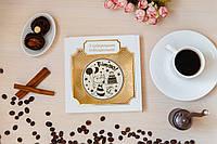 """Шоколадная медаль """"Вітаю"""". Поздравительный шоколад."""