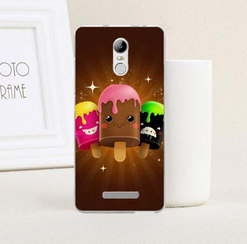Силиконовый чехол накладка для Xiaomi Redmi Note 3 с картинкой мороженое