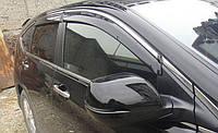 Дефлекторы окон (ветровики) Honda CR-V 2012-  Хром молдинг