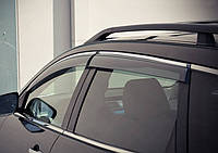 Дефлекторы окон (ветровики) VW Touareg 2010- Хром молдинг