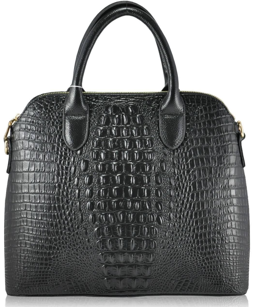 Женская кожаная сумка 1024 черная