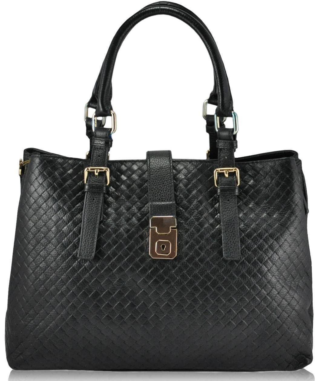 Женская кожаная сумка 2015-12 черная
