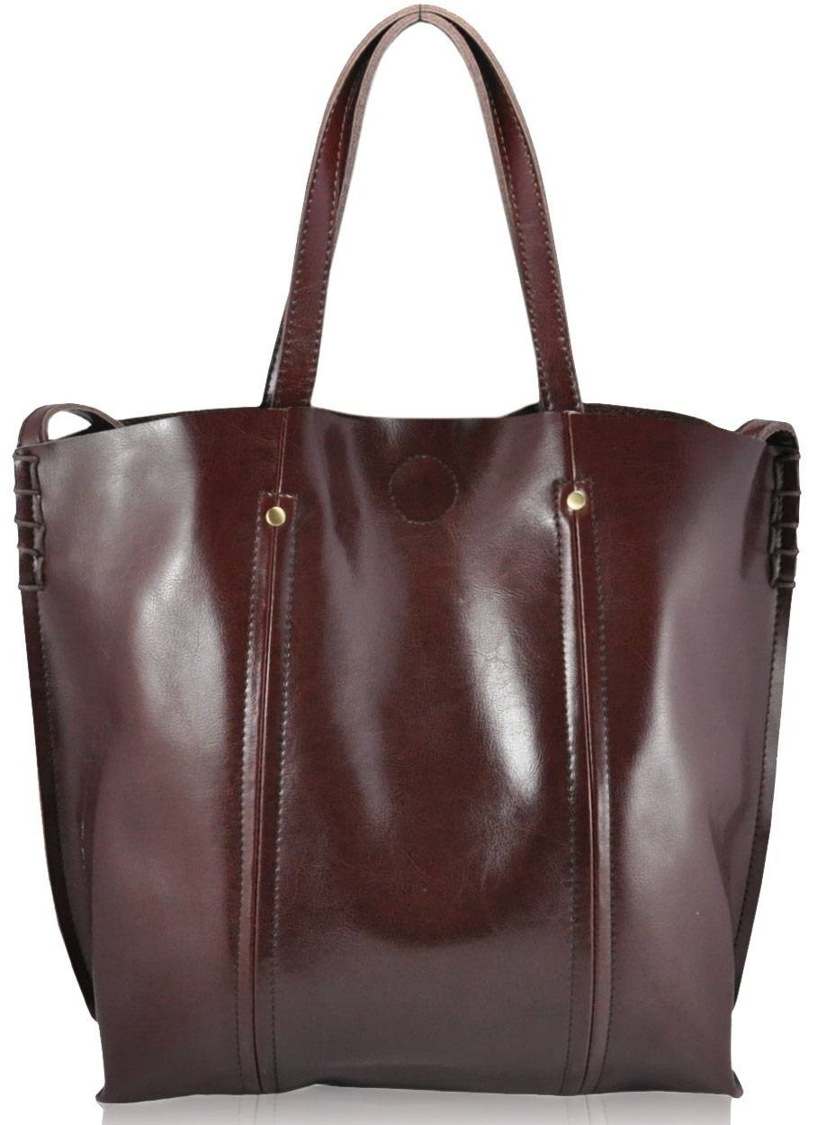 Жіноча шкіряна сумка 8233 коричнева