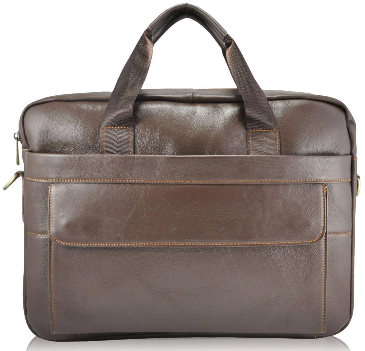 Мужской кожаный портфель 9036 коричневый