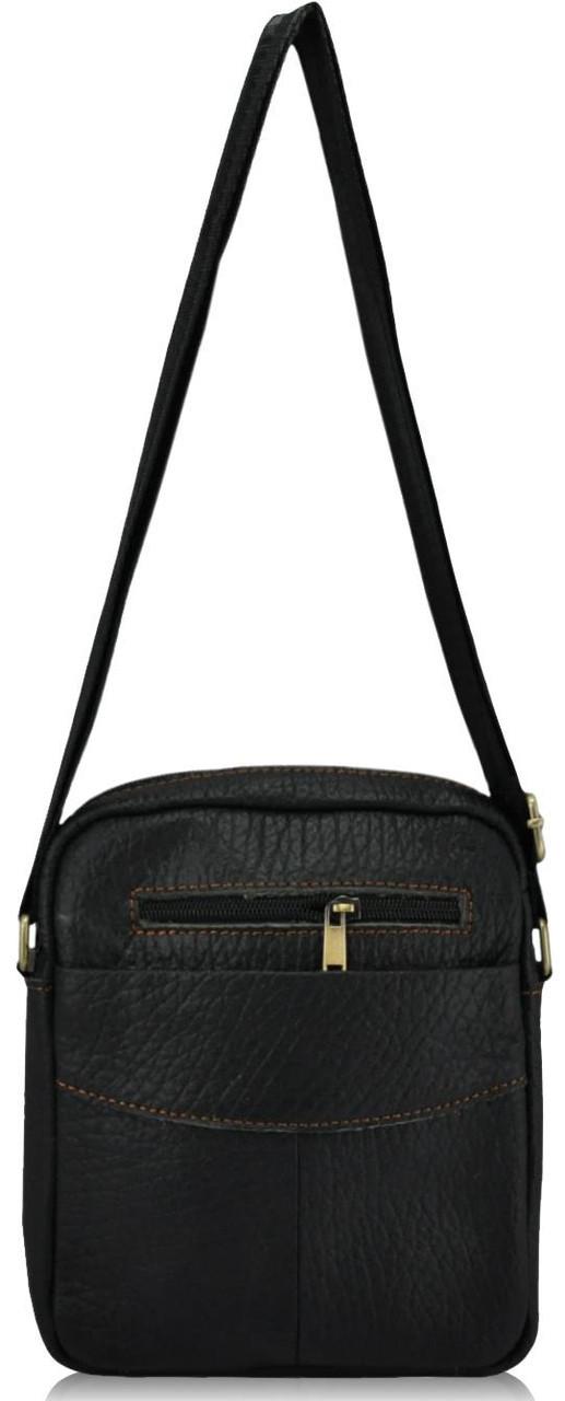 Мужская кожаная сумка 167 черная