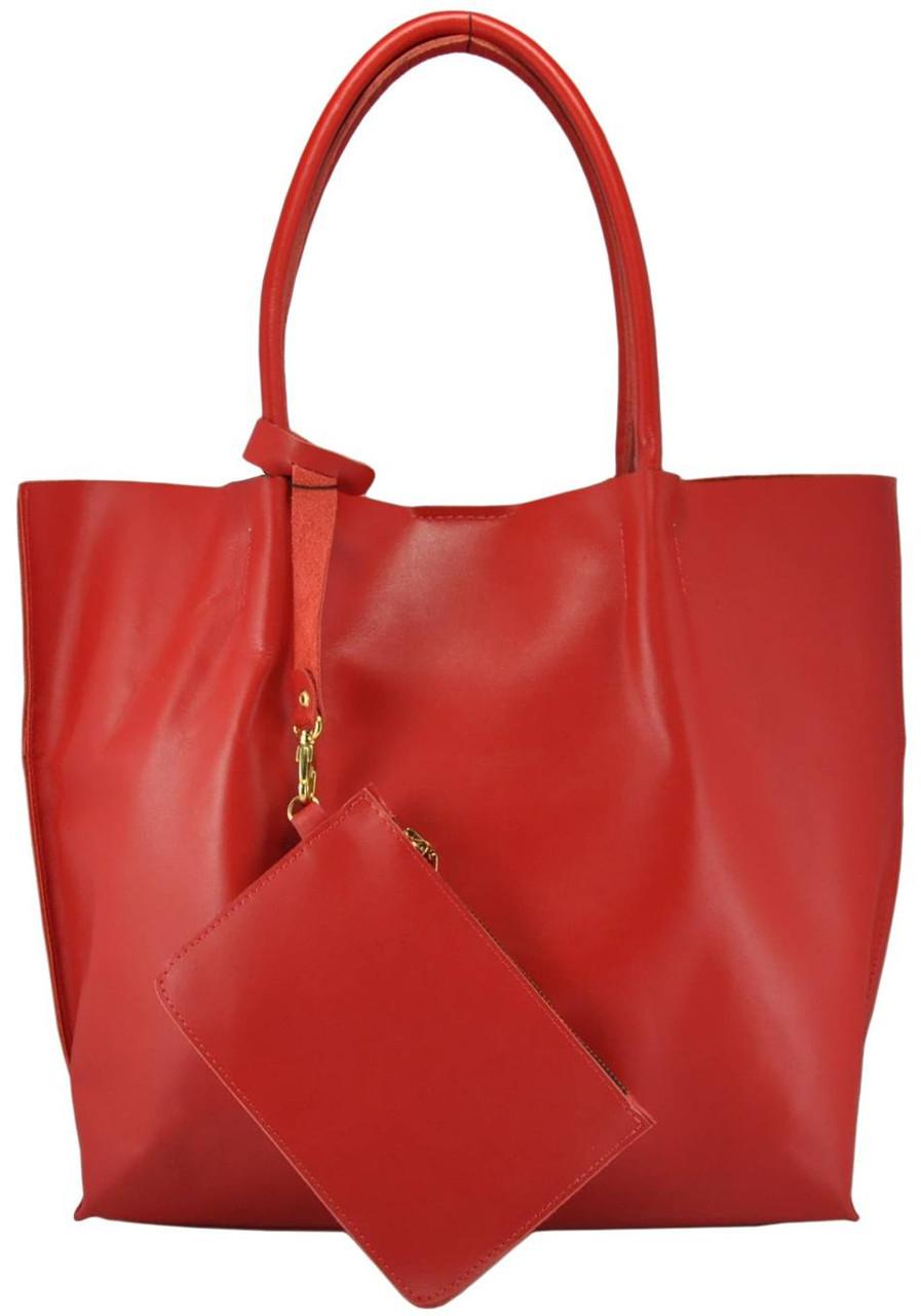 Женская кожаная сумка 828 красная