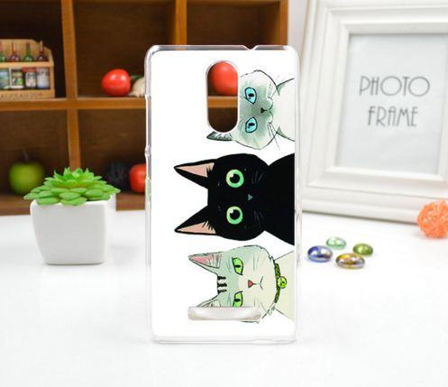 Силіконовий чохол накладка для Xiaomi Redmi Note 3 з картинкою три кота