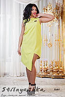 Платье большого размера Диагональ лимон