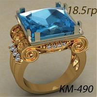 """""""Царский"""" Мужской золотой перстень 585 пробы"""