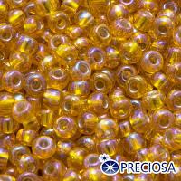Бисер Preciosa 10/0 цв. 87069, Прозрачный с серебряной полосой TSL, Оранжевый, Круглый, (УТ0003157)