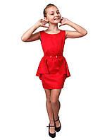 """Платье нарядное детское мемори М -1061 рост 140 146м 152 158 164 и 170 красное тм """"Попелюшка"""""""