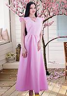 """Платье нежно-розового цвета с кокетливые """"крылышки"""" вместо рукавов"""