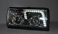 Передние фары на ВАЗ 2107 хромированные (Светомания)