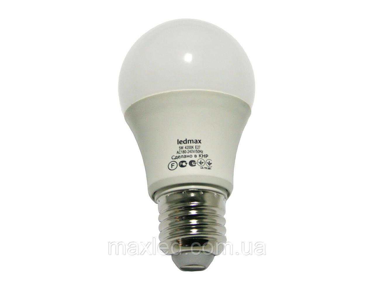 Светодиодная лампа  5Вт BULB5W E27 4200K