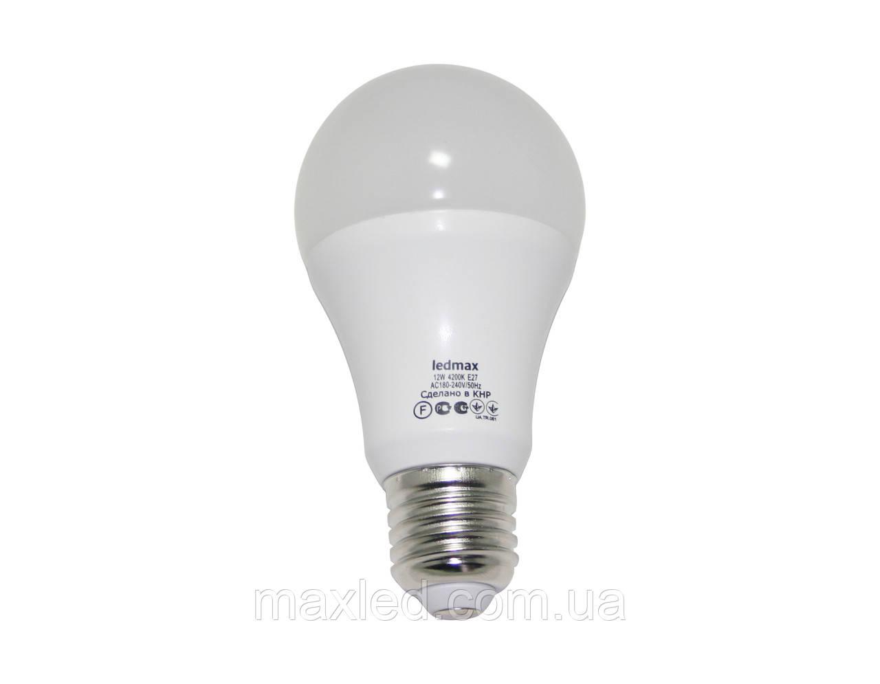 Светодиодная лампа 12Вт BULB12W E27 4200K, фото 1