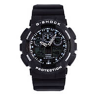 Копии Casio G Shock GA-100MC-1AER Спортивные часы противоударные водонепроницаемые Black