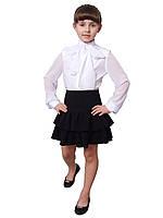 Блузка детская для девочек белая  м 1054  рост 128-152 белая, фото 1