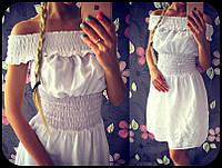 Хлопковое платье с вышивкой 1006