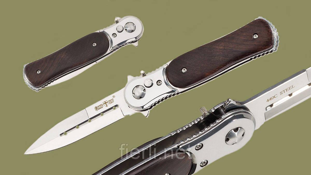 Нож выкидной 9077