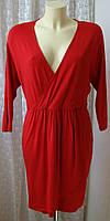 Платье красное вискоза стрейч TU р.48-50 6776