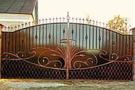 Ворота кованые закрытые
