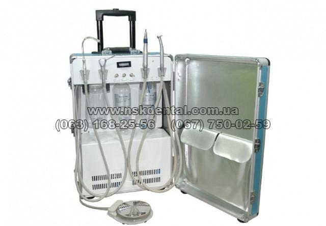 Стоматологическая установка портативная, установка переносная стоматологическая, P 24. (Компрессор Италия. 600