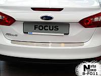 Накладка на бампер Ford FOCUS III 4D 2011- / Форд Фокус