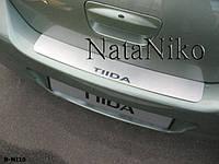 Накладка на бампер Nissan TIIDA 4D 2007- / Ниссан Тайда