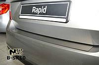 Накладка на бампер Skoda RAPID 2013- / Шкода Рапид